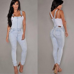 Wholesale Women Sexy Slim Fit Baggy Loose Jeans Denim Overalls Pants Jumpsuit Rompers