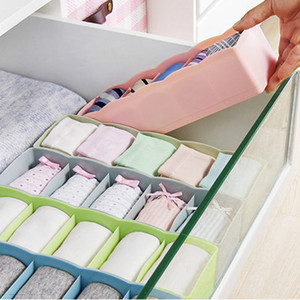 5 Cells Plastic Organizer Storage Box Tie Bra Socks Drawer Cosmetic Divider Tidy Jewelry Packaging 11.6