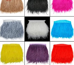 Wholesale 8 cm White Colors Ostrich Feather Plumes Fringe Trim Feather Boa Stripe for Wedding Party Clothing Accessories Craft