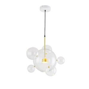 Wholesale Modern Clear Glass Led Pendant Lamp Soap Bubble Ball Fixtures Indoor Lighting Lustre luminaria Hanging Lamp V