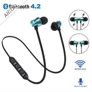 Wholesale Bluetooth Running Sport Magnetic Headphones Wireless Earphones Headset BT Earbuds For iPhone Huawei Samsung LG Smartphones Retail Box