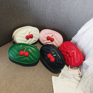 Newest Bay Fanny Packs Kids Waist Bags Fashion Cherry Ornament Children Girls Princess Coin Purses Kids Cross-body Bags Christmas Gifts