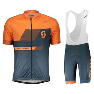 Wholesale Factory direct sale Men scott Cycling Jersey Set Ropa De Ciclismo Summer Short Sleeve Bike Clothing Sport Jerseys Cycling Suit Y011105