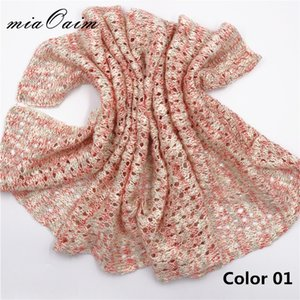 Wholesale 5pcs Slub Yarn Handcrochet Alike Knitted Stretchable Multi Color Pointelle New Born Wrap Baby Photography Blanket Newborn