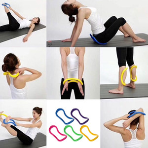 Yoga Pilates Circle Stretch Rings Home Exercise Fitness Workout Accessory Female on Sale