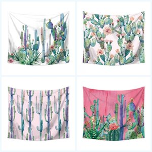 Wholesale Cactus Digital Printing Beach Towel Multi Function Wall Hanging Home Textiles Polyester Fiber Creative Yoga Blanket Home Decor 19yt3 jj