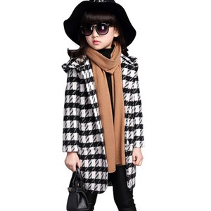 ingrosso bambine trench felpa-2018 Fashion Girls Giacche Cappotti Plaid Felpe Girl Jacket Coat Bambini Bambini Trench Cappotti Princess Girl Jacket Primavera Autunno