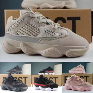 Wholesale Kids KANYE WEST Baby Boy Girls Running Shoes Children Designer Shoes Sports Sneakers Desert Rat With Box Size