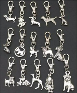 High quality key pendant Antique Silver Zinc Alloy Mixed dog Key Chains DIY Keys Car Bag Handbag Jewelry Accessories A88