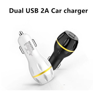 Wholesale NOKOKO fast charging Dual usb Led light Strawberry Car charger Chargers A A Adapter for iphone xs xr samsung S9