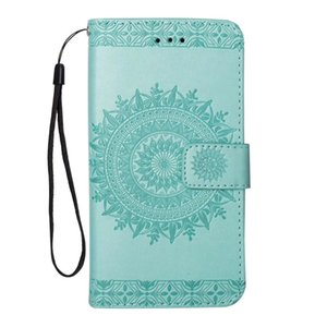 Aesthetic mobile cover for iphone x luxury case Embossed sunflower PU kickstand case for Goophone X wallet case with hanging strap