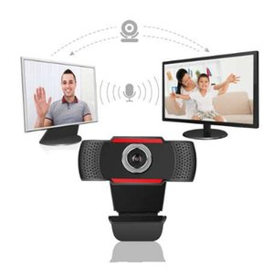 Wholesale USB Web Cam Webcam HD Megapixel PC Camera with Absorption Microphone MIC for Skype for Android TV Rotatable Computer Camera