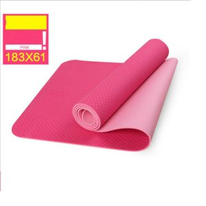 Wholesale Yoga mat double color 6mm exercise pad fitness pad beginner crawling pad sending net bag