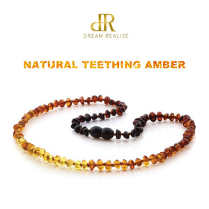 Wholesale necklaces for teething for sale - Group buy Classic Colors Original Amber Teething Necklace for Baby Lab Tested Authentic Natural Amber Stone Necklaces for Baby Jewelry