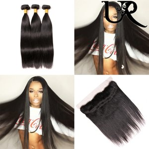 Wholesale Swiss Ear to Ear Pre Plucked x4 Lace Frontal with Hair Bundles Straight Bundles Malaysian Human Hair Straight with Lace Closure