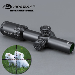 FRIE WOLF New Silver 1-4X24 Riflescopes Rifle Scope Hunting Scope w  Mounts for Hunting Rifle Scope Mounts For Airsoft Sniper Rifle
