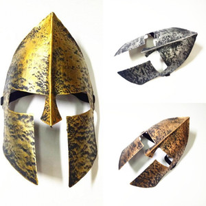 Wholesale Halloween Party Spartan theme Spartan Warrior Helmet Mask Decoration Adult Cosplay Masquerade Ball Antique party Mask