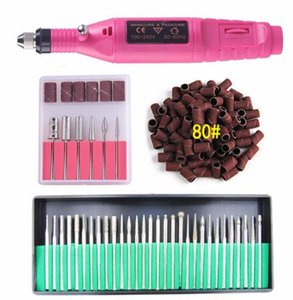 Wholesale Electric Nail Art Polish Machine Nail Drill Bits Set Manicure Pedicure Cuticle Acrylic Gel Remover Tools Kit EU US Plug