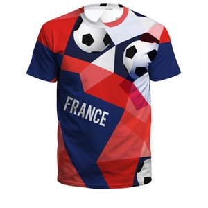 Wholesale In stock,Football jeseys 3D printing Outlet 2018 Russian World Cup Jersey soccer team 3D printing loose short-sleeve T-shirt
