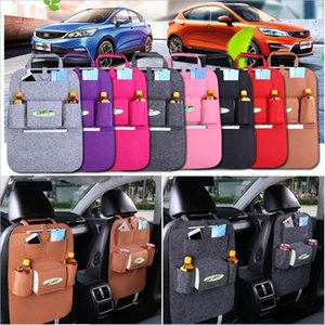 Wholesale Auto Car Seat Back Multi Pocket Storage Bag Organizer Holder Accessory Multi Pocket Travel Hanger Backseat Organizing colors