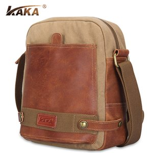 Wholesale canvas bag business casual Messenger bag Korean version of the men across the package Europe design