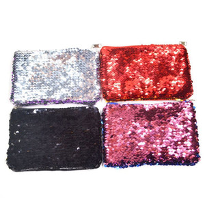 Wholesale Women Makeup Bag Coin Purse Sequin Zipper Change Purse Kids Girl Women Bling Coin Bag Card Holder Mini Wallet Cosmetic Bags