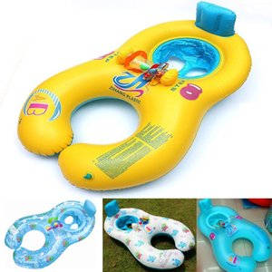 Baby Outdoor Summer Lake Water Lounge Pool Mother And Child Swimming Circle Double Swimming Rings 4 Color on Sale