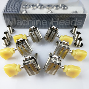 Wholesale machine tuners for guitars for sale - Group buy 1Set R L Vintage Deluxe Guitar Machine Heads Tuners For Gibson USA Nickel Tuning Pegs With packaging