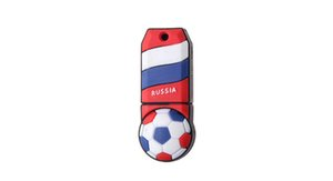 unidad de memoria flash usb de dibujos animados al por mayor-Envío gratis World Cup Cartoon Football Flag G G USB Flash Drive Soccer Russia Team Fans Regalo para PC Portátil USB Memory Stick