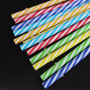Wholesale Double Color Spiral Tubularis Straight Plastic PP Drinking Straw For Bar Pub Art Kitchen Accessories Factory Direct Sale bc BB