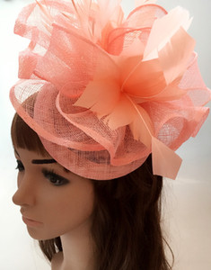 Wholesale 17 colors generous sinamay material fascinator headpiece church wedding headwear event occasion hat suit for all season MYQ109