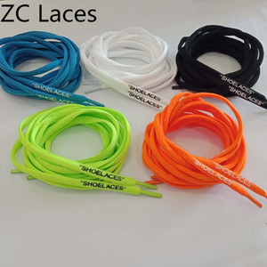 2018 Hot Off SHOELACES 5 Colors Customized Black White Orange Green Blue High Quality Shoe Laces Oval Polyester Silicone Printing Shoelaces