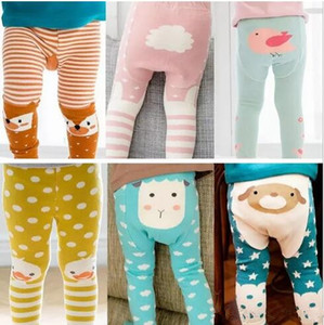 Kids Animal Leggings Baby footless Tights Fox Duck Sheep Lovely Boys Girls Elastic Soft Cotton PP pants Kids tights Fall B11 on Sale