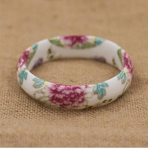 Wholesale Chinese style blue and white porcelain bracelet ceramic ring female porcelain first ornament