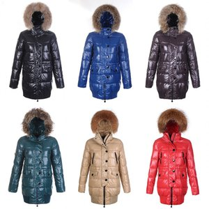Wholesale Ski Down Jacket Ladies Long Straight Fashion Slim Lightweight Breathable Duck Down Warm Detachable Fur Hood Loire Women Coats