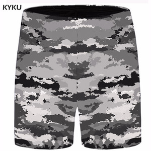 Wholesale KYKU Painting Short Men Space Beach Cargo Shorts Gray Big Size Casual Shorts Cool Mens Short New Male Summer High Quality