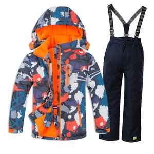 Wholesale Children Kids Waterproof Windproof Ski Suit Boys Ski Jacket and Pants Winter Thermal Clothes Snow Jacket and Pants Snowboard Set