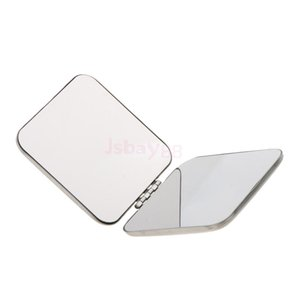 Wholesale Pocket Mini Square Compact FULL STAINLESS STEEL Cosmetic Foldable Makeup Mirror Magnifying Mirror Will not Break into Pieces