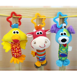 Wholesale duck toys for kids resale online - Kids Baby Toys Baby Rattle Tinkle Hand Bell Multifunctional Plush Toy Cute Animal Duck Dog Fawn Hanging Toy for Stroller Crib