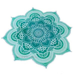 Wholesale 10pcs Lotus Flower Shape Mandala Indian Tapestry Wall Hanging Floral Printed Beach Throw Towel Hippie Gypsy Yoga Mat Blanket cm