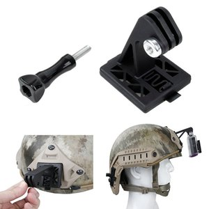 Wholesale Tactical Helmet Mount Adapter Excavator ARM NVG Helmet Base Bracket Black Tan for Gopro Hero SJCAM SJ4000 xiaoyi k Cam