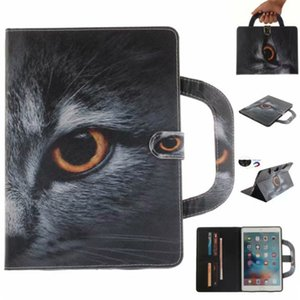 Tablet Case Coque For iPad Pro 9.7 inch Covers Cases Handle Flip Cover Stand Leather Wallet Bags Coloured drawing Tiger Lion wolf on Sale
