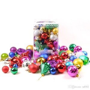ingrosso decorare gli alberi di natale-Christmas Ornament Festival Ball Tree Happy Day Decorazione palle Green Trees Pendant Multi Color Package Decoration Pratico jc4 cc