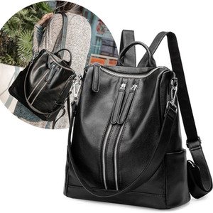 Wholesale Women S Genuine Leather Backpack Purse Multi Functional Ladies Casual Shoulder Bag School Bag For Girls Casual Daypack G142L