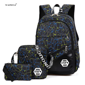 Wholesale WANGKA Set Waterproof Travel Bags College Students Backpack For Girls and Boys School Bagpack Fashion Shoulder Bag