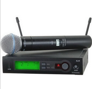 Wholesale 2018 hot selling new high quality Handheld Wireless Microphone Stage Performance Microphone DHL Free freight LLFA