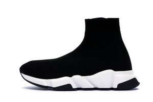 2019 Designer Sneakers Speed Trainer Runner Black Red Top Quality Triple Black Fashion Flat Socks Boots Casual Shoes Size 36-48 on Sale