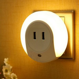 Wholesale Smart Design USB Charger Dual USB Wall Plate Charger Dusk to Dawn Light Sensor Night Light For Bedroom