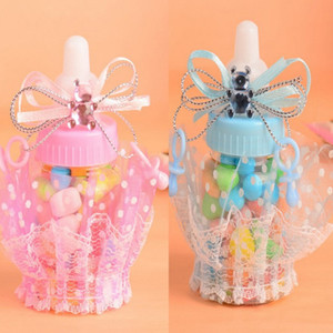 Wholesale Baby Shower Gift Bottle Box Baptism Christening Brithday Party Favors Gift Favors Candy Box Bottle Boy Girl