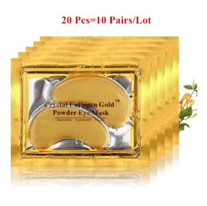 Wholesale 20pcs Natural Crystal Collagen Gold Powder Eye Mask Anti Aging Eliminates Dark Circles Fine Lines Face Care Skin Care